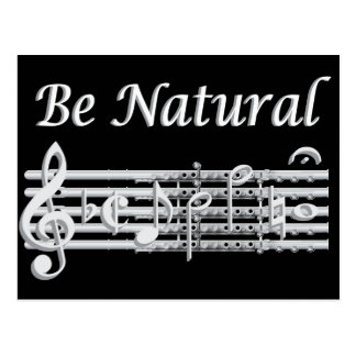 Flautists Know How to Be Natural Postcard