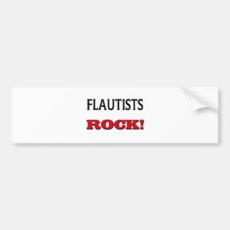 Flautists Rock Car Bumper Sticker