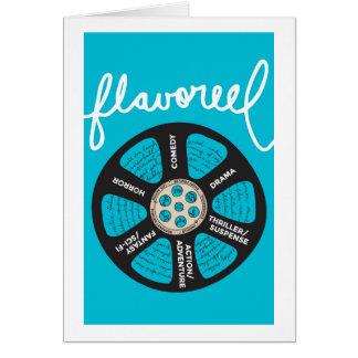 Flavoreel Blue Notecard Note Card