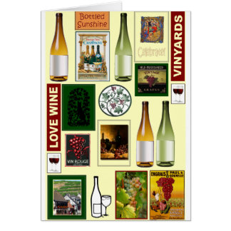 Flavours of the vineyards card