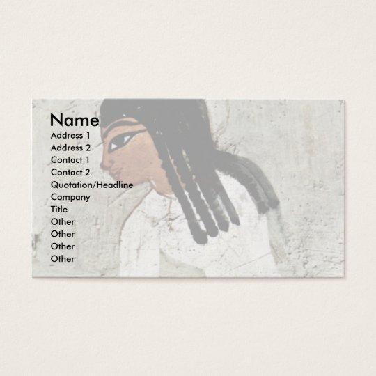 Flax Harvest Details By Maler Der Grabkammer Des N Business Card