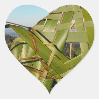 Flax Weaving Heart Stickers