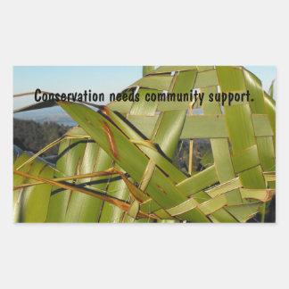 Flax Weaving Rectangular Sticker