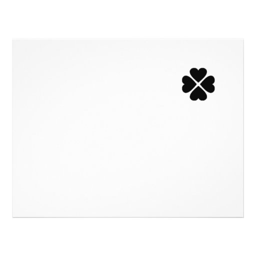 Flayer maps Design clover sheet heart black turn o Personalized Flyer