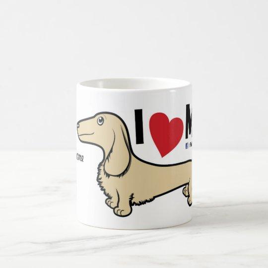 """FLDR """"I Love My"""" LH Blonde Dachshund Mug."""