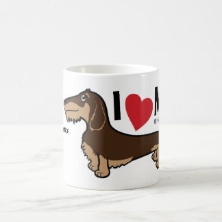 "FLDR ""I Love My"" Wire Haired Dachshund Mug. Coffee Mug"