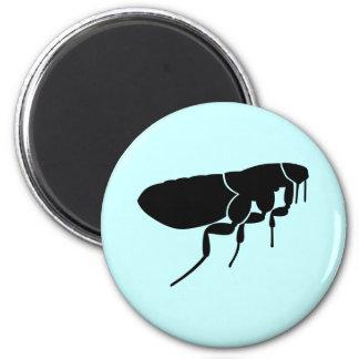 Flea 6 Cm Round Magnet