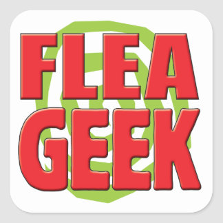 Flea Geek v2 Square Sticker