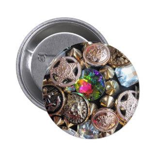 Flea Market Bling Buttons