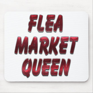 Flea Market Queen Red Mouse Pad