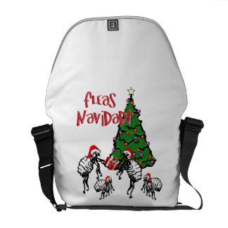 Fleas Navidad - Christmas Fleas and Tree Messenger Bags