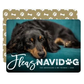 Fleas Navidog Brush Dog Lover Holiday Photo Card 13 Cm X 18 Cm Invitation Card