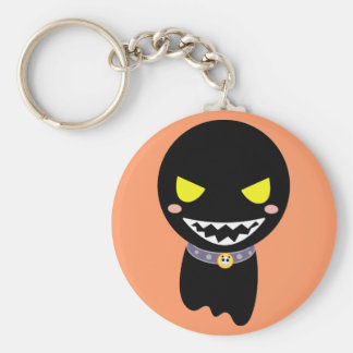 Fleck the Black Ghost Key Ring