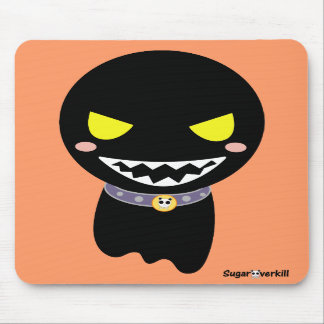 Fleck the Black Ghost Mouse Mat