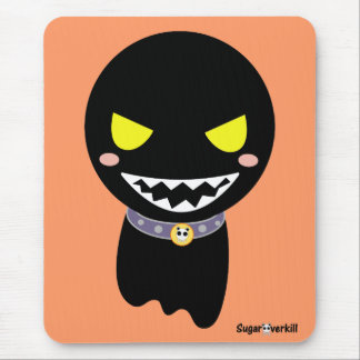 Fleck the Black Ghost Mouse Pad