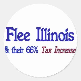 Flee Illinois Round Sticker
