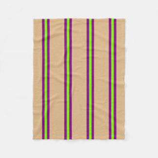 "Fleece Blanket 30""x40"" - Base Colour & Stripes"