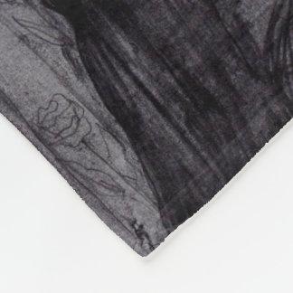 """Fleece Blanket, Baby """"Birds and flowers"""""""