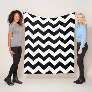 Fleece Blanket - Black & White Zigzag