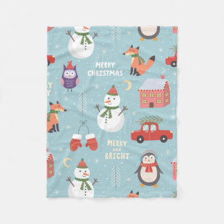 Fleece Blanket - Christmas Critters