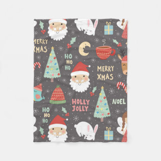 Fleece Blanket - Christmas Santa