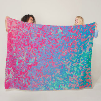 Fleece Blanket Colorful Corroded Background