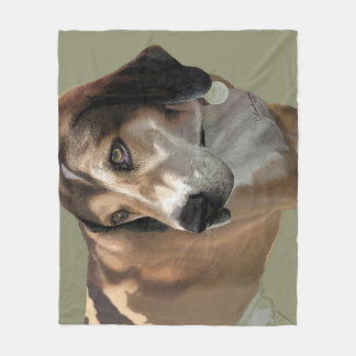 Fleece blanket dog portrait