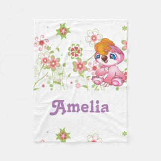 Fleece Blanket for baby girls