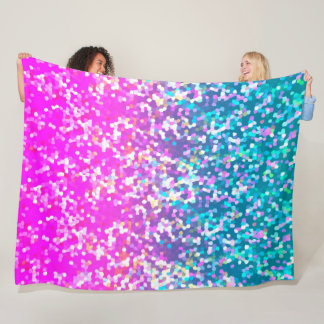 Fleece Blanket Glitter Graphic