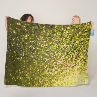 Fleece Blanket Gold Mosaic Sparkley Texture