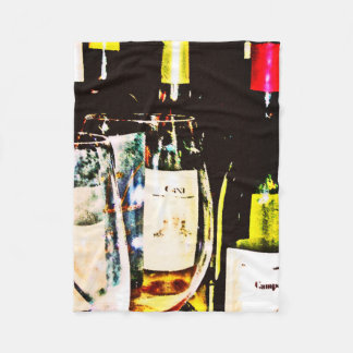 "Fleece Blanket - Gourmet Collection ""Wine Glasses"