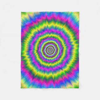 Fleece Blanket   Neon Explosion
