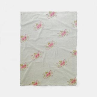Fleece blanket of small rose