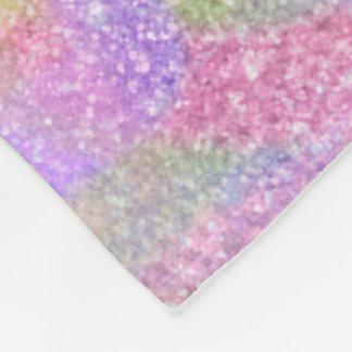 Fleece Blanket - Sparkly Pastel Rainbow