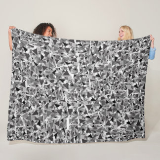 Fleece Blanket with Black and White Triangles