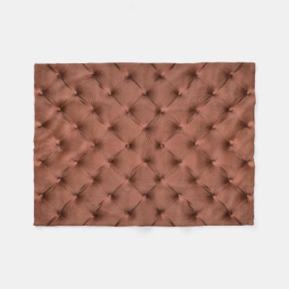 Fleece Blanket with brown capitone, classic style
