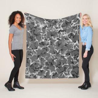 """Fleece Blanket with """"Gradient Stars"""" design"""