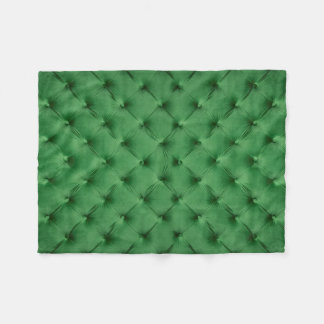 Fleece Blanket with green capitone, classic style