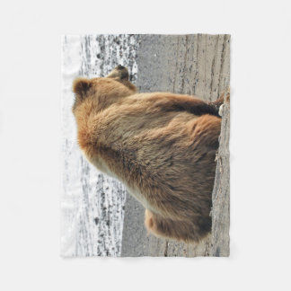 Fleece Blanket with grizzly bear