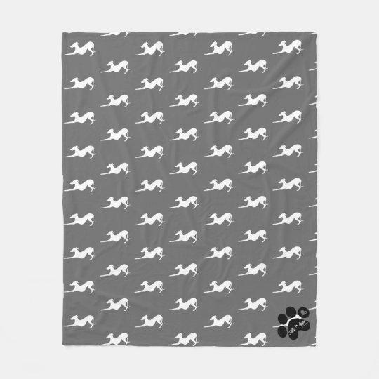 Fleece Blanket with Italian Greyhound