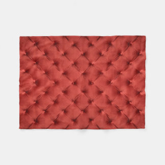 Fleece Blanket with red capitone, classic style