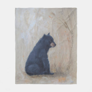 Fleece Blanket with Sitting Bear