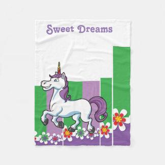 Fleece Blanket with unicorn