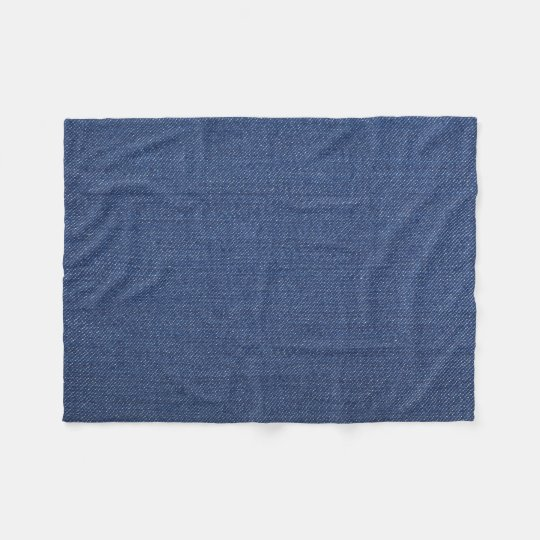 Fleece Blanket with with natural blue jeans, denim
