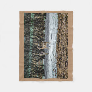 Fleece Deer Blanket 30x40