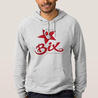 Fleece Hoodie-AmericanApparel+BixTheRabbit design Hoodie