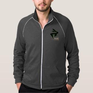 Fleece jacket with logo