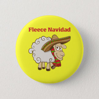 Fleece Navidad 6 Cm Round Badge