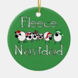 Fleece Navidad Funny Christmas Ornament