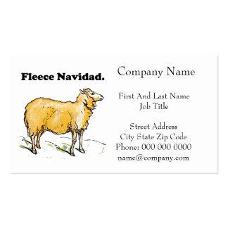 Fleece Navidad Golden Christmas Sheep Cartoon Double-Sided Standard Business Cards (Pack Of 100)